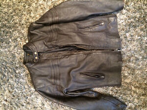 Heavy Brown Leather Jacket