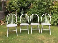 Set of 4 lovely Kitchen Chairs ...painted F&B. NEW PRICE