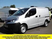 2013 NISSAN NV200 1.5 DCI SE 110 BHP IN SILVER,1 OWNER,AIR CONDITIONING,6 SPEED