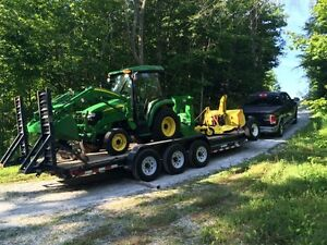 2008 John Deere 3320 4x4, 290 hrs, heated cab, many attachments