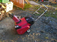 snow thrower for table saw