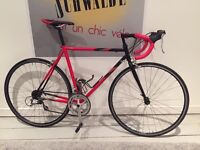 Super cool fast steel Raleigh road bike modern components