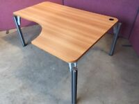 Modern cherry radial desk delivered to Belfast
