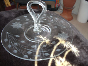 glass tray/serving dish