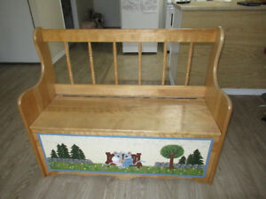 Beautiful Handmade Storage Bench