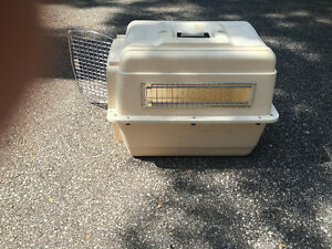 dog travel crate-medium size- like new $50.00