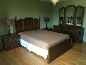 Beautiful Solid Wood Bedroom set for sale!