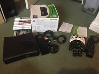 XBOX 360 With 10 Games And Rechargeable Battery packs. GOOD CONDITION