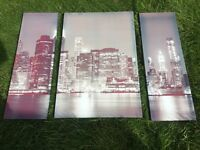 New York skyline canvases and blind