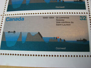 25th Anniversary, The St. Lawrence Seaway,  Cornwall Stamp Sheet Cornwall Ontario image 2