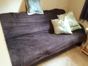 FUTON Black Frame with Microfiber Cover