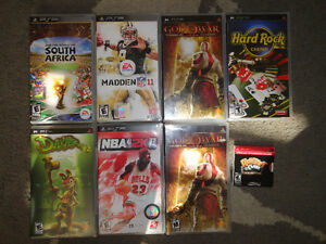 Variety of 8 PSP Video Games