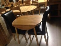 Small tables and chairs set new