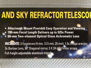 NATIONAL GEOGRAPHIC FULL SIZE REFRACTOR TELESCOPE $60 Strathcona County Edmonton Area image 3
