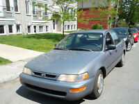 1997 TOYOTA COROLLA AUTOMATIQUE 4CYL 1.6L SUPER ECONOMIQUE