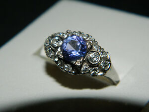 Tanzanite, Diamond, Platinum Ring