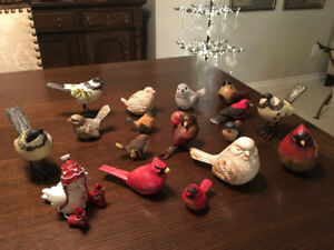 ECLECTIC COLLECTION OF WINTER OR CHRISTMAS BIRDS
