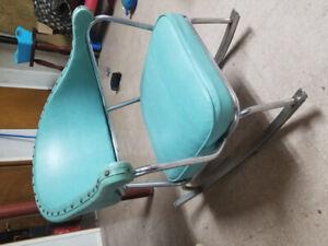 Chaises berçante VINTAGE style 50's - cuir et chrome