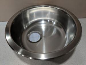 New Circular stainless steel sink (Ikea BOHOLMEN)