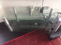 Large tv stand glass