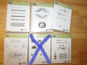 Stampin' Up Clear Mounted Stamp Sets - most brand new