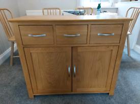 solid wood okea cabinet