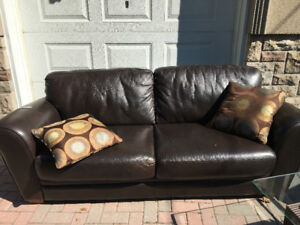 Leather Lazyboy Sofa - Pick Up only