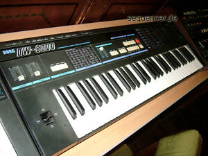 Korg DW6000. Vintage synth. Digital waveform analog synth.