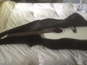 New Denver white guitar for sale
