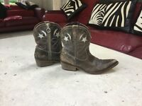 Ladies Russell & Bromley Brown Vintage Cowboy Boots, UK size 7