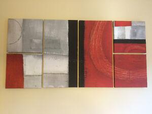6 piece wall art