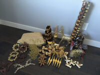 Gold/Brown Christmas decorations