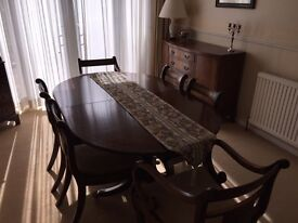 Mahogany Reproduction Dining Table and Chairs
