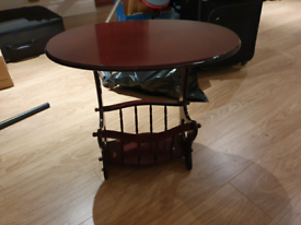 Coffee table with mag rack