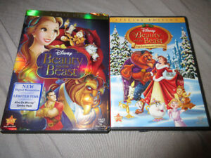 DISNEY BEAUTY AND THE BEAST DVDS