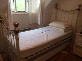 2 Single Bed Frames With Matresses and Protectors
