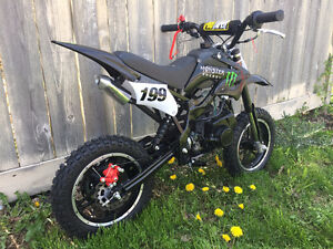 BACK IN STOCK!! 50-M DIRTBIKE!! 50CC 2 STROKE DIRTBIKE! KIDS 49c