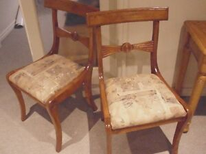 RETRO/VINTAGE Styled 4 WOOD CHAIR SET