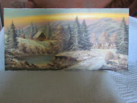 Collectable German landscape oil painting