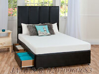 BRAND NEW DOUBLE DIVAN BED AND MATTRESSES FOR SALE