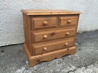Chest of drawers solid vintage bedside dovetails miniature can deliver