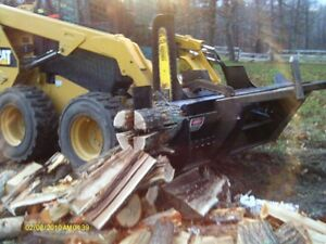 SKID STEER FIREWOOD PROCESSOR