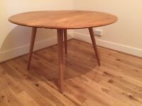 Original Ercol Elm Drop Leaf Dining Table