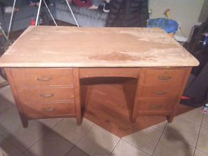 Antique bankers desk solid wood 1965