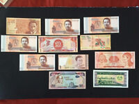 Lots of 11 pieces of World Currencies Collection - Uncirculated