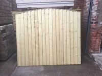 🔨🌟High Quality Vertical Board Arch Top Tanalised Garden Fence Panels