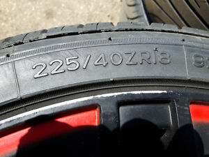 4 - 18 inch Alloy Rims & Low Profile Tires