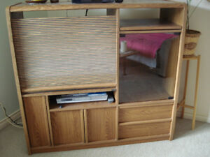 FREE Entertainment Unit w/Roll Top Cover