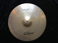 """Zildjan ZBT PLUS series 20"""" Rock Ride Cymbal, warm and shimmery tone, clear bell, great condition"""
