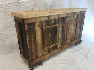 For sale custom built  barn board clad counter or bar